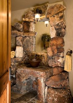 Rock Sinks Design Ideas, Pictures, Remodel and Decor