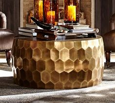 Vince Metal-Clad Coffee Table #potterybarn