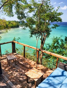 With crystal-clear Caribbean views from its six modern tree-house-style love nests, Secret Bay hotel – set on a lush hillside in rugged Dominica – is an unspoilt island secret that's almost too good to share. Places To Travel, Travel Destinations, Places To Visit, Modern Tree House, Caribbean Carnival, Caribbean Sea, Countries Of The World, Beautiful Places, Amazing Places
