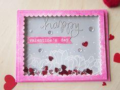 Valentine's Day shaker card #prettypinkposh #handmadecards #lovecards #valentinesday