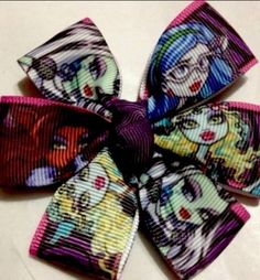 """Monster High """"faces""""  ( 3 Inches) Magic Hairbows"""