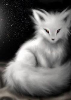 �ine s arctic fox familiar Cute animal drawings Anime animals Kitsune
