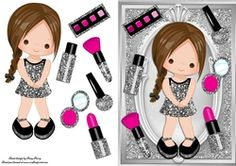 Beautiful Brunette Make Up Girl on Craftsuprint - View Now!
