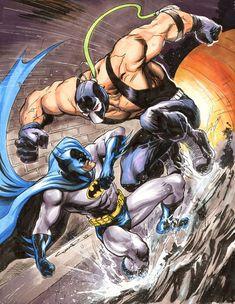 Original Comic Art titled Batman vs Bane by Cinar, located in John's Misc. Batgirl, Catwoman, Nightwing, Bane Batman, Im Batman, Comic Book Artists, Comic Books Art, Comic Art, Comic Book Characters