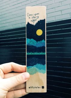 <b>Lillytales is passionate about books + book lovers!Each wooden bookmark is uniquely handmade and designed in Melbourne, Australia.</b>Approx. 19cm x 4.5cm. New matte varnish is applied to the front side only.Due to the recycled