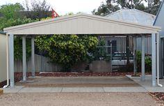 Free 2 Car Carport Plans   Sidach: Sheds Built Tough   Carport with Gable Roof
