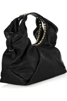 Jimmy Choo black handbag with stud detail