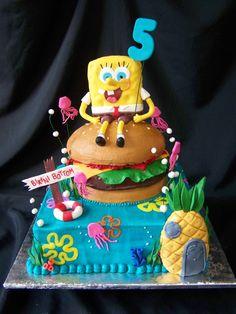 spongebob birthday cakes | Spongebob, Crabby Patty, & Bikini Bottom — Children's Birthday Cakes