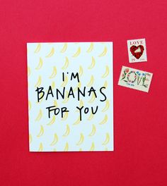 Happy Cactus Designs I'm Bananas For You Card for Valentine's Day // © Happy Cactus Designs