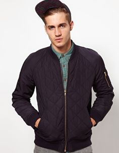 SOS Bomber Jacket In Quilted Fabric. DEFINITELY buying this next month!!!