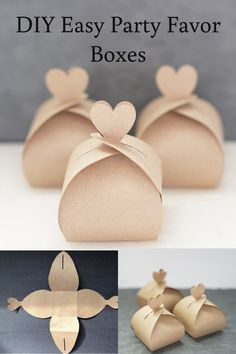 DIY Easy Party Favor Boxes DIY Wedding on a budget, free favors box with template<br> wedding favors under easy homemade fall wedding favors how to make a small gift box out of paper, nice cheap favors Diy Wedding On A Budget, Wedding Favors Cheap, Cheap Favors, Wedding Favor Boxes, Diy Wedding Gifts, Wedding Ideas, Diy Gifts For Birthday, Diy Wedding Souvenirs, Diy Wedding Cards