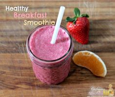 Healthy breakfast smoothie recipe. Paleo. Gluten Free. Lactose Free.