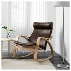 Simple, timeless design that's still going strong after 40 years in our stores. Rocking Chair, Seat Cushions, Dark Brown, Ikea, Living Room, Furniture, Home Decor, Chair Swing, Bench Seat Cushions