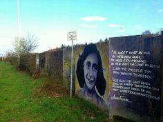 Anne Frank, streetart, The Netherlands