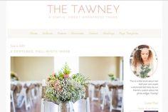 The Tawney- Feminine WordPress Theme by angiemakeswebsites on @creativemarket
