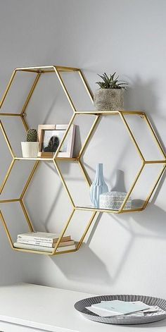 Metal Leonique wall shelf gold home accessories are real furniture . - home accessories - Metal Leonique wall shelf gold home accessories are real furniture … – Home accessories – # - Cute Room Decor, Decoration Bedroom, Gold Bedroom Decor, Bedroom Wall, Bedroom Sets, Gold Home Decor, Home Decor Trends, Gold Wall Decor, Decor Ideas