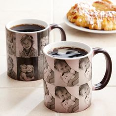 Cool mug starts out black, but once you pour a hot beverage into it, the pictures appear.  You can add up to 5 pictures.