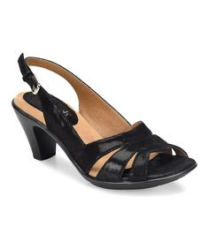 Take a look at this Black Neima Suede Slingback today!