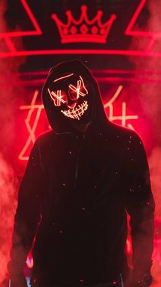 Hacker Neon Wallpaper Mask – Who