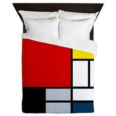 Piet Mondrian Composition Queen Duvet