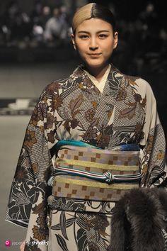 140319-7607 - Autumn/Winter 2014 Collection of Japanese fashion brand JOTARO SAITO on March 19, 2014, in Tokyo.