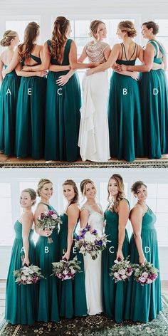 8aa8d4b4ef9d Modest turquoise long bridesmaid dress, unique sweetheart chiffon wedding  party dress, simple formal dress with pleats 0460
