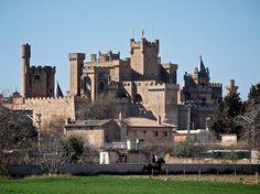 """Castillo de Olite en Navarra. El Castillo-Palacio de los Reyes de NAVARRA, es uno de los mas importantes dentro de su género. Joya de los castillos góticos europeos, fue mandado construir por Carlos III """"el Noble"""" a finales del siglo XIV.Aunque casi todos lo llaman """"castillo"""", lo correcto es referirse a él como """"palacio"""", ya que se trata de una construcción con carácter cortesano, donde los aspectos residenciales prevalecieron sobre los militares ."""