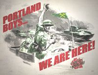 gotta hate the timbers, but this guy- Brent Diskin, i believe, can put together a pretty poster