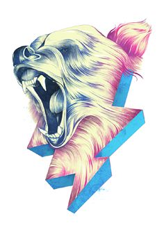 lightning bear  I think I just found my new tattoo. This is amazing.