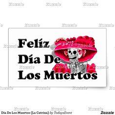 Dia De Los Muertos (La Catrina) Rectangular Sticker  #DiaDeLosMuertos #Zazzle #Gravityx9 -