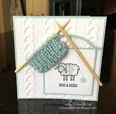 stampin up cabke knit embossing folder cards - Google Search