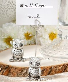 Little Owl Place Card Holders - Wedding and Shower Favors - coupon code is saveme5 or freeshipping