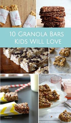 Homemade granola bars in all different flavors kids especially will love! #granolabars