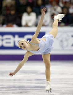 Viktoria Helgesson of Sweden performs during the ladies free skating at the ISU World Figure Skating Championships in London, Ontario