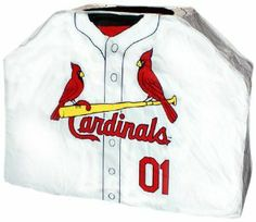 MLB St. Louis Cardinals Grill Cover by Team Sports America. $59.95. Heavy duty vinyl grill covers add extra sizzle to team your spirit. Bolster a friendly rivalry with the neighbor with this licensed grill cover. Protect your gas grill from the elements with this sports memorabilia uniform grill cover. Made of 100% polyvinyl. Weatherproof grill cover features your favorite team. Team:St. Louis Cardinals Grill Cover  Who said the best defense is a good offense. Protect yo...