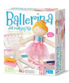 Roberson Museum and Science Center's Gift Shop has wonderful Creative kits for young artists!  Ballerina Doll Making Kit.