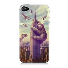 Fab.com | Slothzilla iPhone 4 Glossy Case, sharp shirter