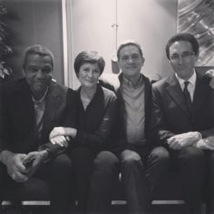 """ Left to Right: Hugh Quarshie (Ric), Catherine Russell (Serena), John Michie (Guy) and Guy Henry (Hanssen) Hospital Tv Shows, City Hospital, Guy Henry, Holby City, Group Shots, Meanwhile In, Mara Hoffman, Girls With Glasses, Celebs"