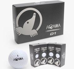 HONMA D1 Golf Balls White Color 1 Dozen (12Balls) #HONMA