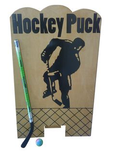 """Hockey game idea Make it a fairly small opening... Any pucks go through... = drink ticket & added to the """"board""""... Highest scorer wins a prize @ the end of the night."""
