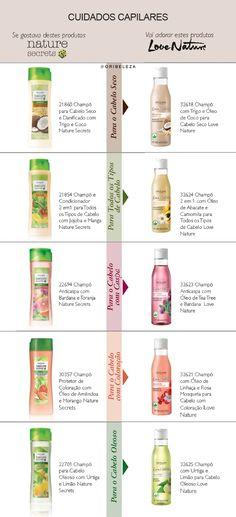 Tabela de Transição Love Nature - Cuidados Capilares Hair Care, Blush, Products, Conditioning, Tables, Rouge, Hair Care Tips, Hair Makeup, Gadget