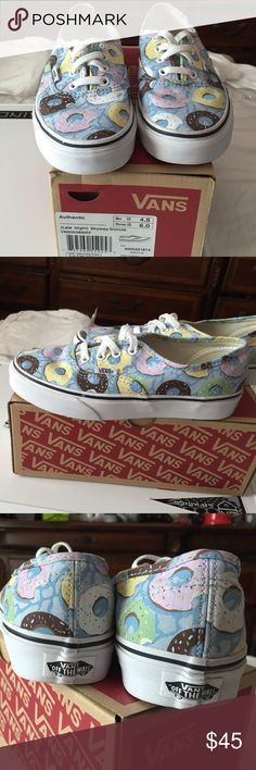 🍩Women's Donut Vans🍩 Gently worn Donut Vans with box. I cleaned them and put them in the box every time I took them off. Cute and fun. From their Late Night Collection. Not sold in stores anymore Vans Shoes Sneakers
