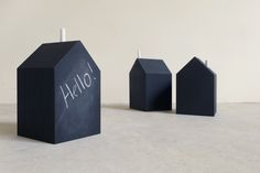 Chalkboard House is a fun, engaging and decorative product that you can place on your work desk or simply anywhere you want. Jot down notes or doodle anything you wish on it just like a normal blackboard. If you're worried about where to keep the chalks, don't. It can be place right on the roof like a chimney. Have fun with it! Work Desk, Blackboards, Home Accessories, Chalkboard, Doodle, Notes, Canning, Fun, Decor