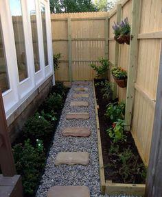 7 Stunning Cool Ideas: Garden Ideas On A Budget Meal Planning small backyard garden to get.Small Backyard Garden To Get pretty backyard garden trees. Side Yard Landscaping, Backyard Patio, Landscaping Ideas, Modern Backyard, Landscaping Software, Desert Backyard, Sloped Backyard, Rustic Backyard, Garden Modern
