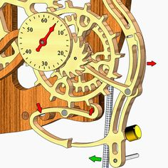 Wooden Clocks: How the Woodenclocks gravity escapement works