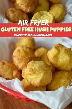 Easy Air Fryer Hush Puppies are the perfect side dish for Air Fryer Fish. This gives you that wonderful hush puppy taste you crave without the gluten. Air Fry Recipes, Side Dish Recipes, Easy Dinner Recipes, Great Recipes, Oven Recipes, Air Fryer Recipes Easy, Ninja Recipes, Snacks Recipes, Popular Recipes