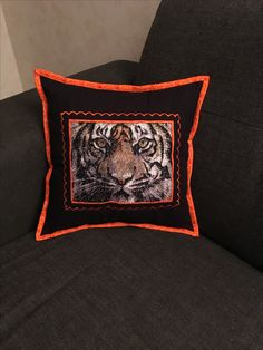 Broderad tiger