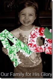Letter Art Fun- from A to Z. Great post, with pictures of each letter craft!