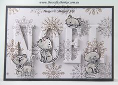www.thecraftythinker.com.au, Eclipse Technique, Christmas card, Xmas, Pretty Kitty, #thecraftythinker, Stampin Up