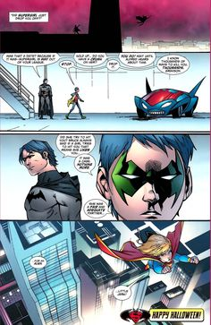 Batman: Did Supergirl just drop you off? Was that a date? Because if it was--Supergirl is way out of your league. Robin: Stop. Batman: Hold up... Do you have a crush on her? Robin: Drop it. Batman:...